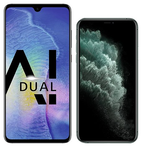 Smartphone Comparison: Huawei mate 20 vs Iphone 11 pro