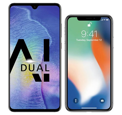 Smartphone Comparison: Huawei mate 20 vs Iphone x