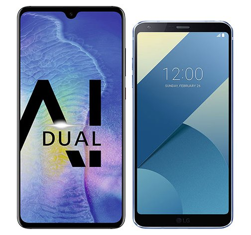 Smartphone Comparison: Huawei mate 20 vs Lg g6