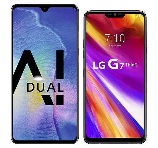 Smartphone Comparison: Huawei mate 20 vs Lg g7 thinq