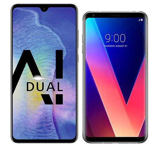 Smartphone Comparison: Huawei mate 20 vs Lg v30