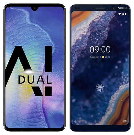 Smartphone Comparison: Huawei mate 20 vs Nokia 9