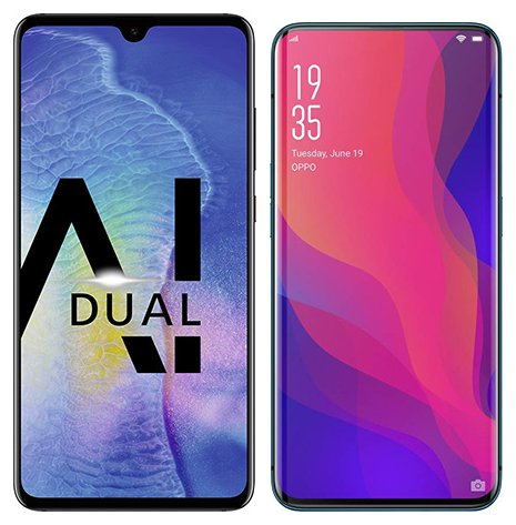 Smartphone Comparison: Huawei mate 20 vs Oppo find x