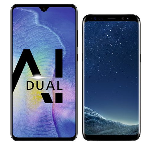 Smartphone Comparison: Huawei mate 20 vs Samsung galaxy s8