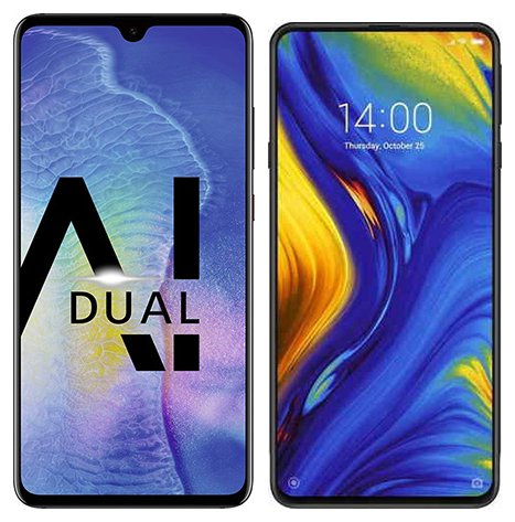 Smartphone Comparison: Huawei mate 20 vs Xiaomi mi mix 3