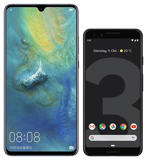 Smartphone Comparison: Huawei mate 20 x vs Google pixel 3
