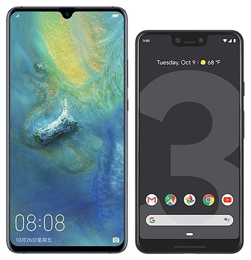 Smartphone Comparison: Huawei mate 20 x vs Google pixel 3 xl