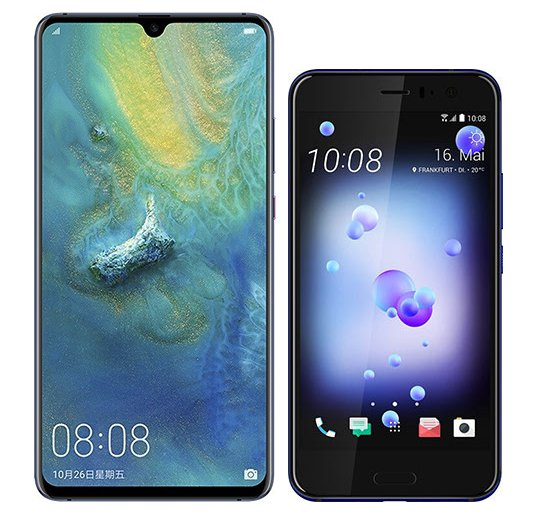 Smartphone Comparison: Huawei mate 20 x vs Htc u11