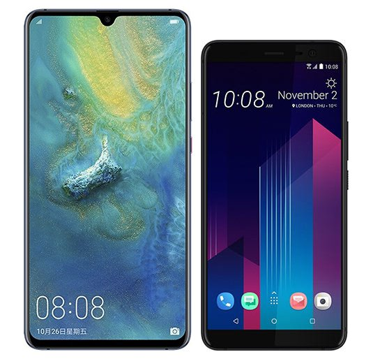 Smartphone Comparison: Huawei mate 20 x vs Htc u11 plus