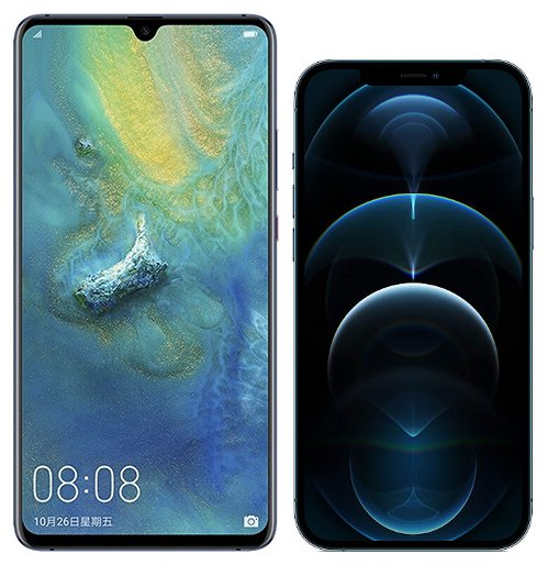 Smartphonevergleich: Huawei mate 20 x oder Iphone 12 pro max