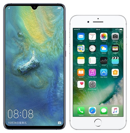 Smartphone Comparison: Huawei mate 20 x vs Iphone 7 plus