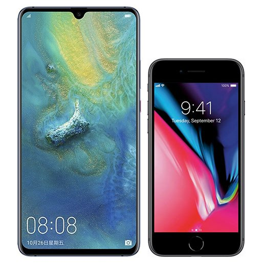 Smartphone Comparison: Huawei mate 20 x vs Iphone 8