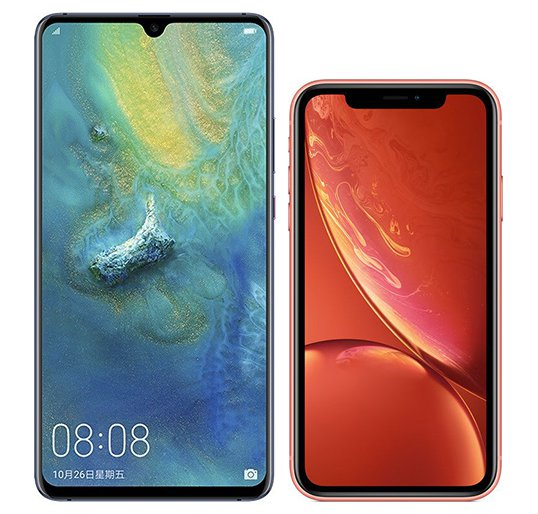 Smartphone Comparison: Huawei mate 20 x vs Iphone xr