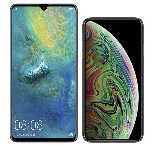 Smartphone Comparison: Huawei mate 20 x vs Iphone xs max