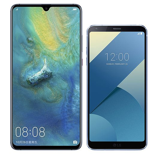Smartphone Comparison: Huawei mate 20 x vs Lg g6