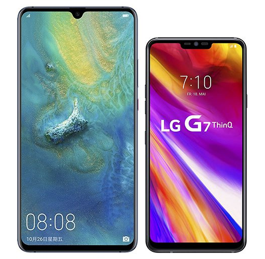 Smartphone Comparison: Huawei mate 20 x vs Lg g7 thinq
