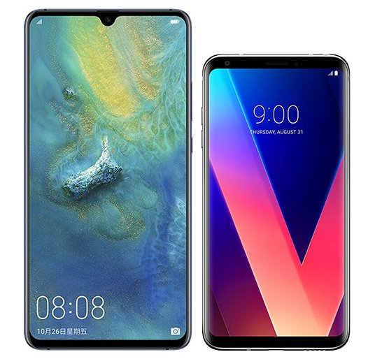 Smartphone Comparison: Huawei mate 20 x vs Lg v30