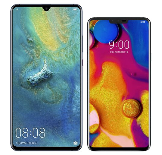 Smartphone Comparison: Huawei mate 20 x vs Lg v40 thinq