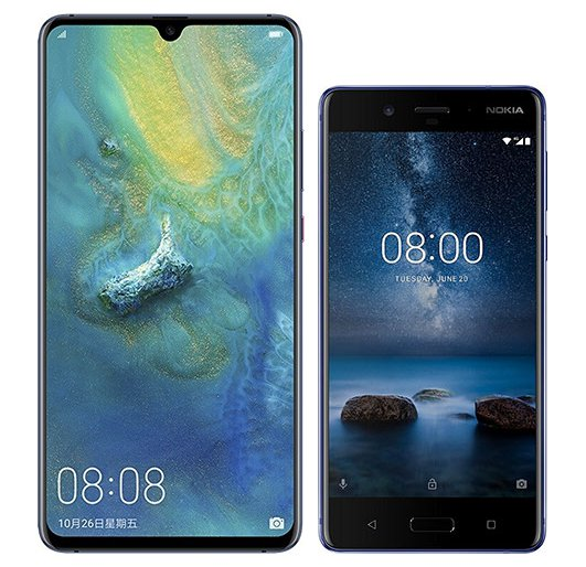 Smartphone Comparison: Huawei mate 20 x vs Nokia 8