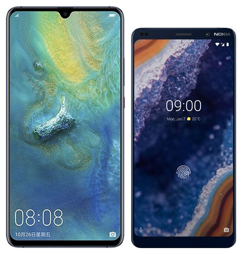 Smartphone Comparison: Huawei mate 20 x vs Nokia 9