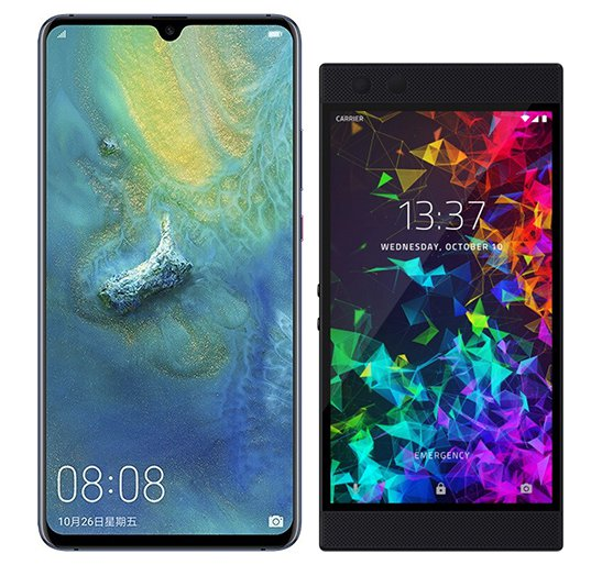 Smartphone Comparison: Huawei mate 20 x vs Razer phone 2