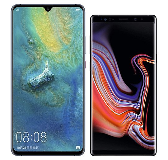 Smartphone Comparison: Huawei mate 20 x vs Samsung galaxy note 9
