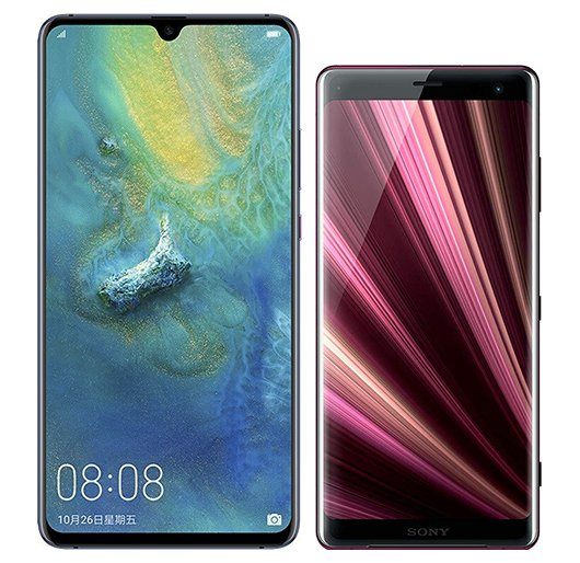 Smartphone Comparison: Huawei mate 20 x vs Sony xperia xz3
