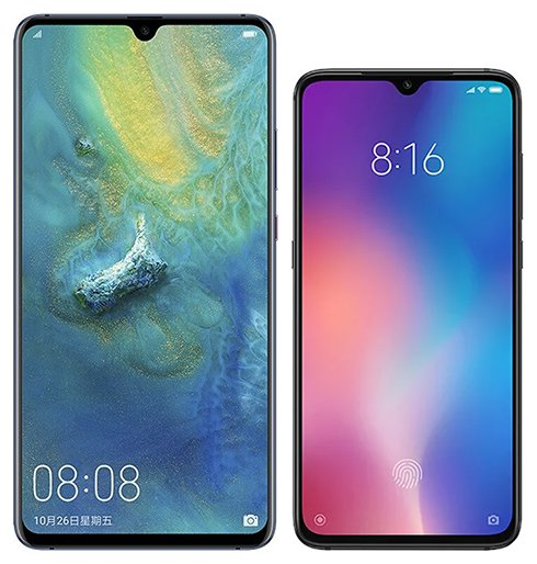 Smartphone Comparison: Huawei mate 20 x vs Xiaomi mi 9