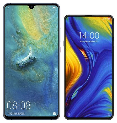 Smartphone Comparison: Huawei mate 20 x vs Xiaomi mi mix 3