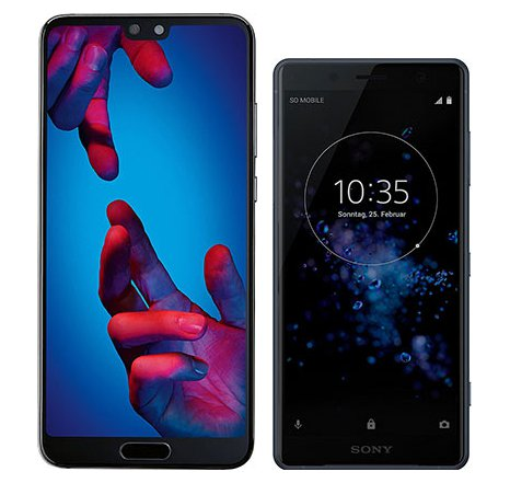 Smartphonevergleich: Huawei p20 oder Sony xperia xz2 compact