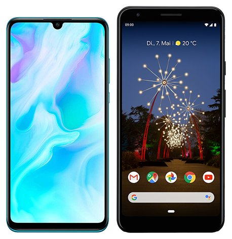 Smartphone Comparison: Huawei p30 lite vs Google pixel 3a xl