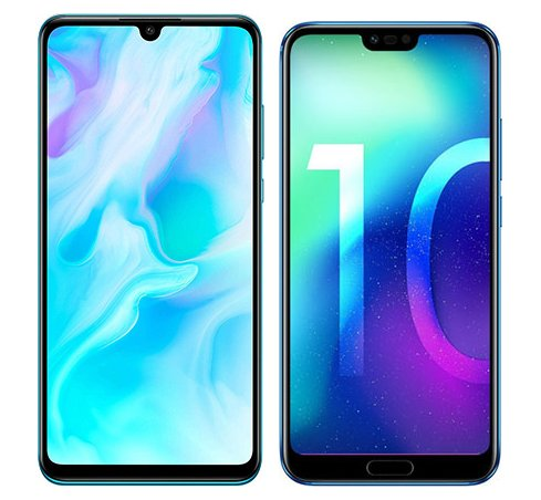 Smartphone Comparison: Huawei p30 lite vs Honor 10