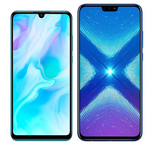 Smartphone Comparison: Huawei p30 lite vs Honor 8x