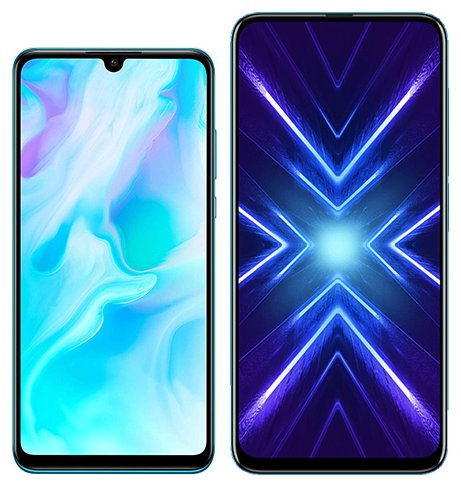 Smartphone Comparison: Huawei p30 lite vs Honor 9x