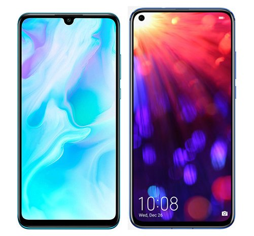 Smartphone Comparison: Huawei p30 lite vs Honor view 20