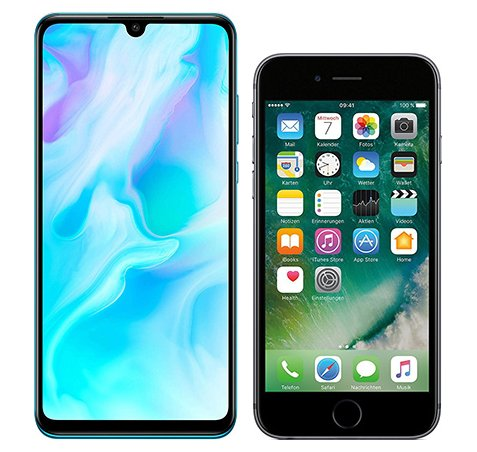 Smartphone Comparison: Huawei p30 lite vs Iphone 6s