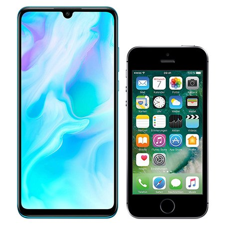 Smartphone Comparison: Huawei p30 lite vs Iphone se