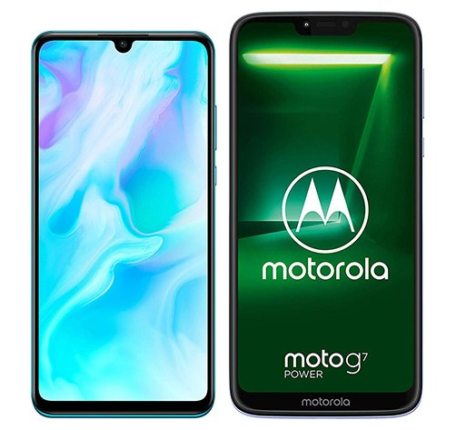Smartphone Comparison: Huawei p30 lite vs Motorola moto g7 power