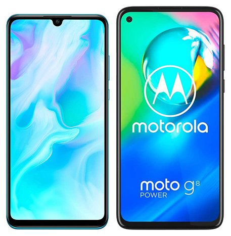 Smartphone Comparison: Huawei p30 lite vs Motorola moto g8 power