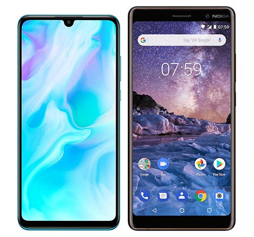 Smartphone Comparison: Huawei p30 lite vs Nokia 7 plus