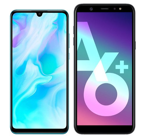 Smartphone Comparison: Huawei p30 lite vs Samsung galaxy a6 plus