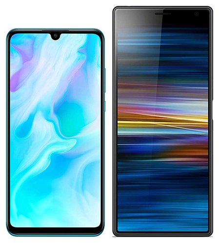 Smartphone Comparison: Huawei p30 lite vs Sony xperia 10 plus