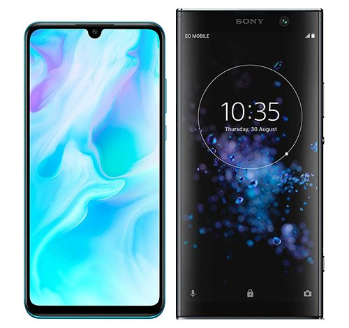 Smartphone Comparison: Huawei p30 lite vs Sony xperia xa2 plus