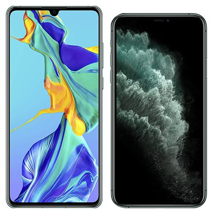 Smartphonevergleich: Huawei p30 oder Iphone 11 pro