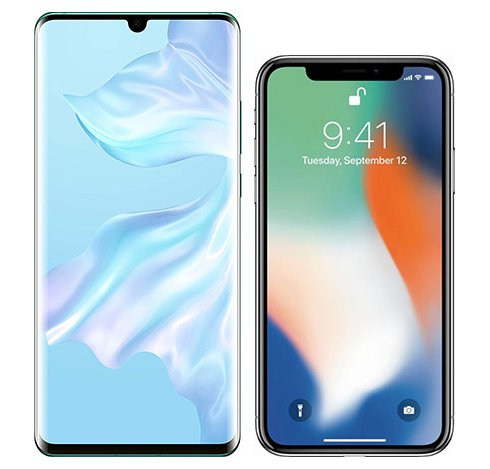 Smartphonevergleich: Huawei p30 pro oder Iphone x