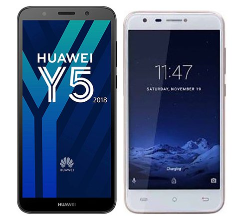 Smartphonevergleich: Huawei y5 2018 oder Cubot hafury mix