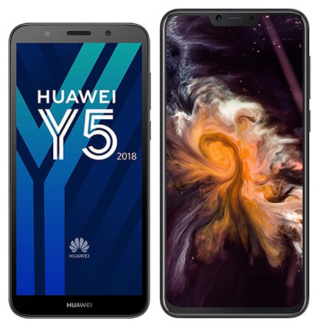 Smartphonevergleich: Huawei y5 2018 oder Cubot p20