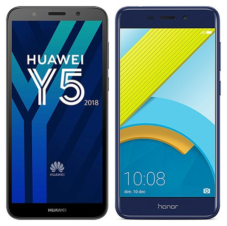 Smartphonevergleich: Huawei y5 2018 oder Honor 6c pro