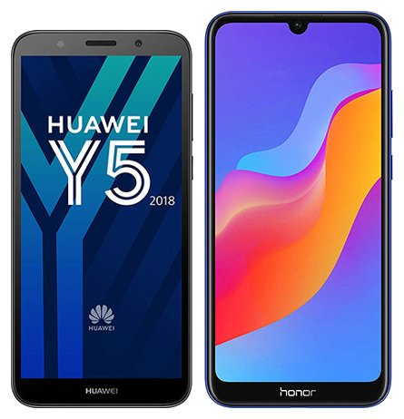 Smartphonevergleich: Huawei y5 2018 oder Honor 8a