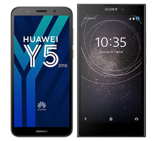 Smartphonevergleich: Huawei y5 2018 oder Sony xperia l2